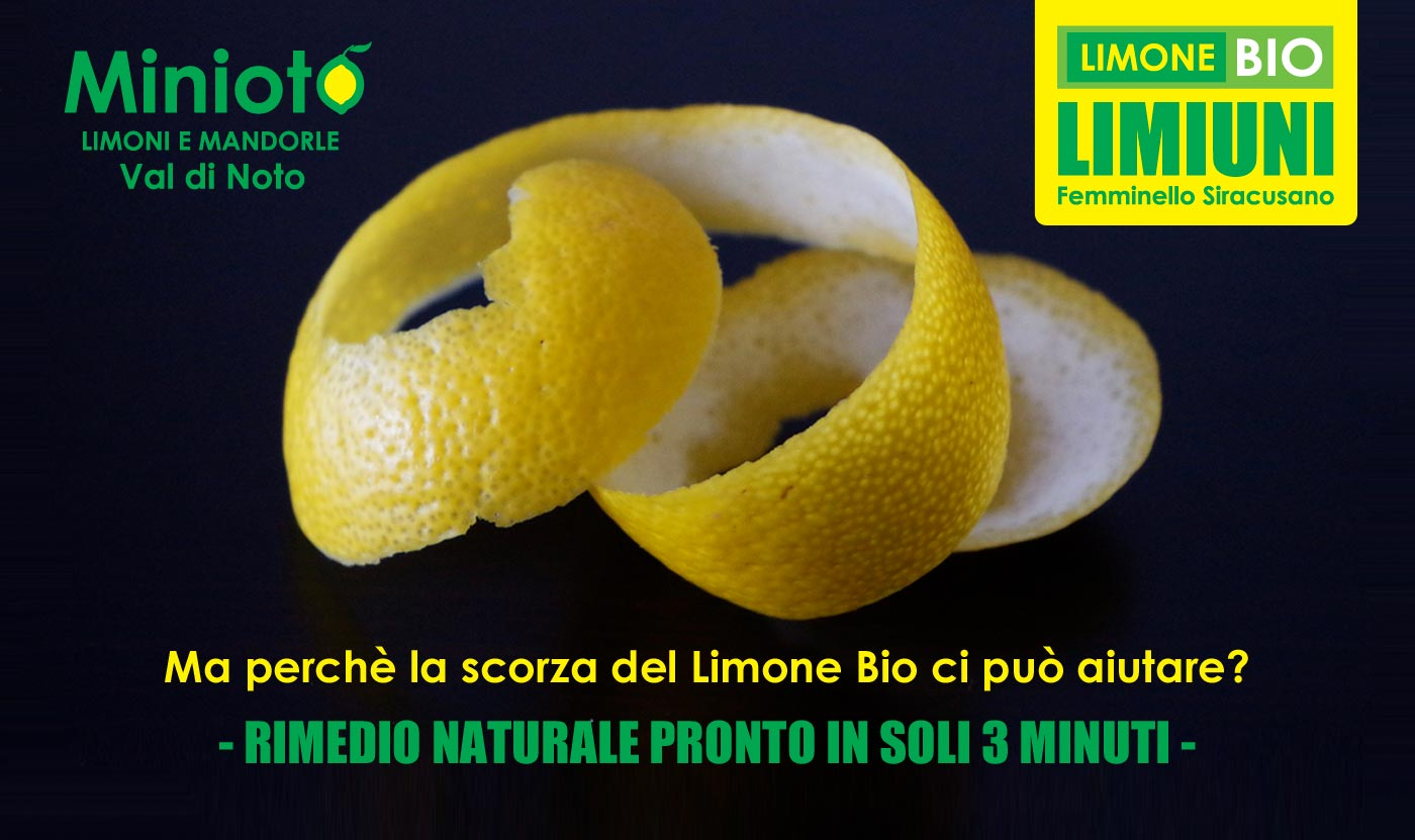 Esiste un rimedio naturale pronto in soli 3 minuti grazie alla scorza di Limone